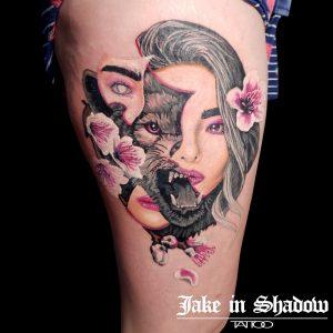 Jake in Shadow tattoo extravaganza
