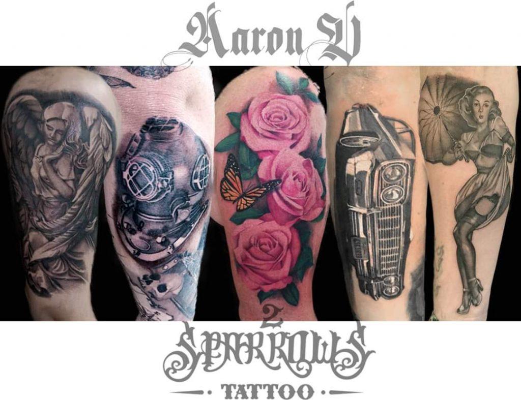 Aaron V tattoo extravaganza