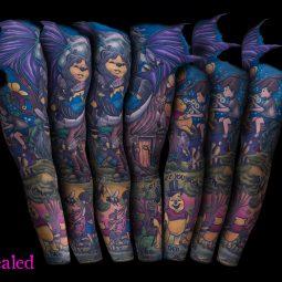 Lara Higgs tattoo extravaganza