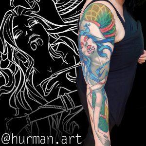 Mikey Hurman tattoo extravaganza
